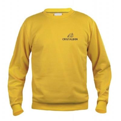 Sudadera amarilla Cristalbox